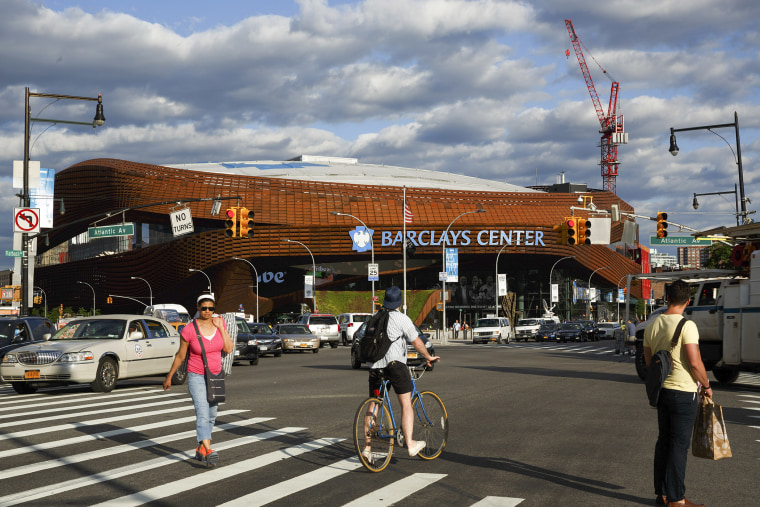 The Barclays Center, proposed host site for the 2016 Democratic National Convention in New York, June 6, 2014.
