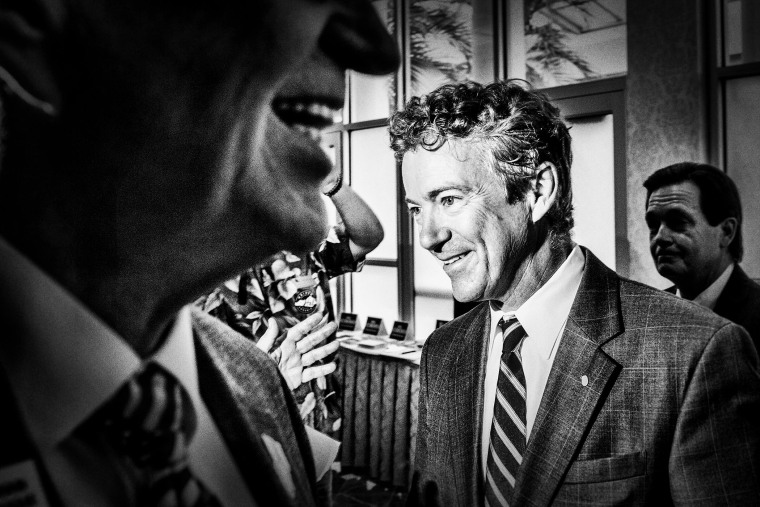 U.S. Senator Rand Paul (R-KY) at a meeting of the 4th Congressional District Republican Party in Covington, KY on July 25, 2014.