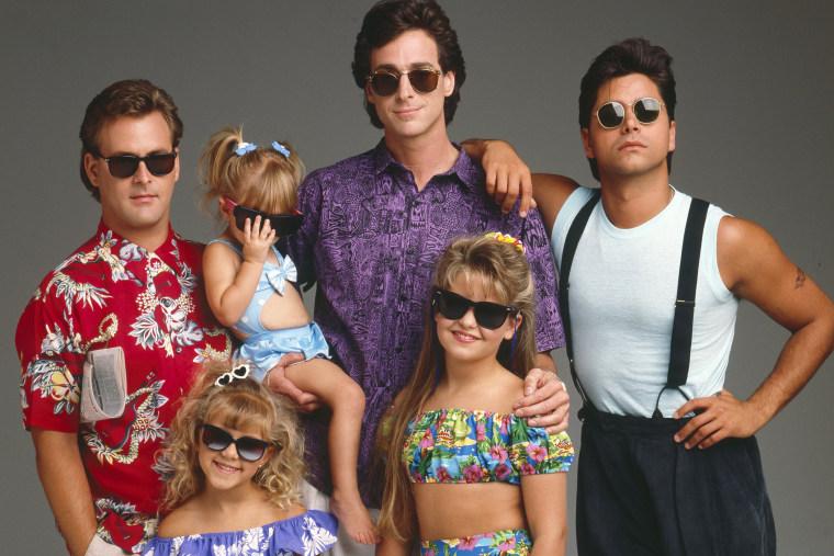 The cast of Full House, Aug. 8, 1989.