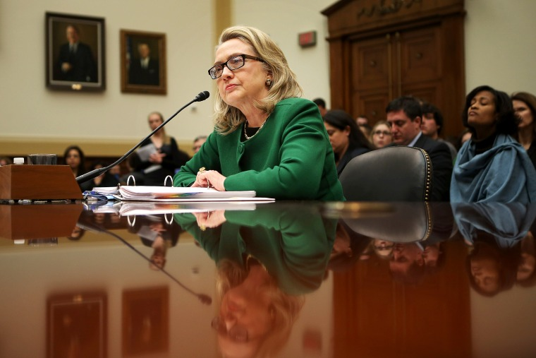 Hillary Clinton testifies before the House Foreign Affairs Committee on Capitol Hill January 23, 2013 in Washington, DC.