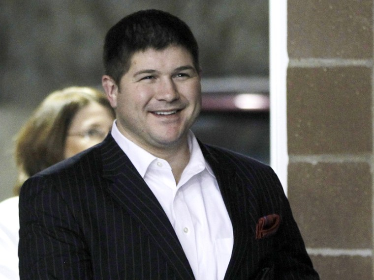Jesse Benton, arrives at a campaign event at the Iowa State Fairgrounds in Des Moines, Iowa, on Dec. 28, 2011.