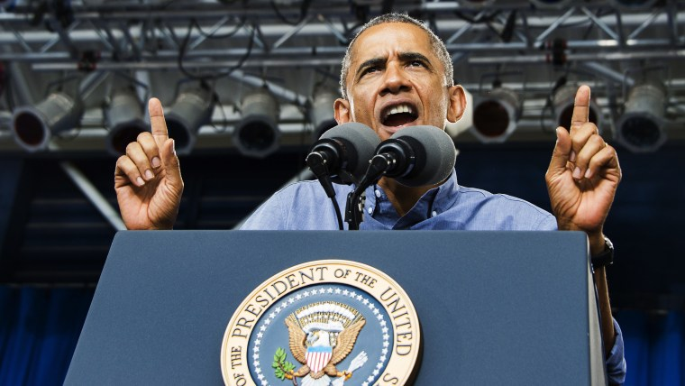 US President Barack Obama speaks during Laborfest in Milwaukee, Wisconsin, September 1, 2014.