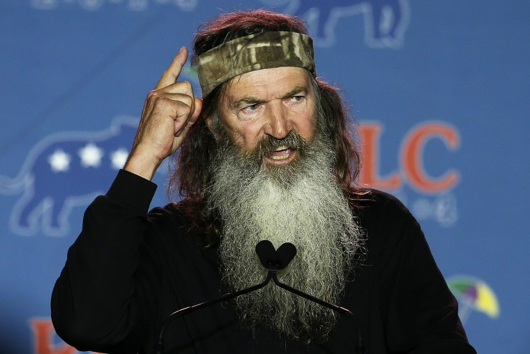 Reality TV personality Phil Robertson speaks during the 2014 Republican Leadership Conference on May 29, 2014 in New Orleans, Louisiana.