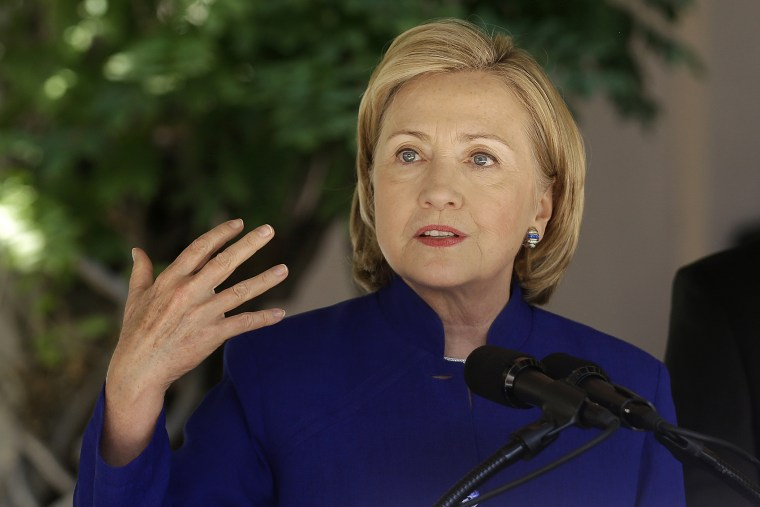Former U.S. Secretary of State Hillary Clinton speaks in Oakland, Calif., on July 23, 2014.