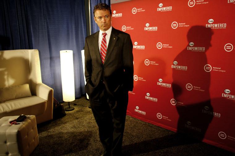 U.S. Senator Rand Paul (R-KY) gave a speech at the National Urban League conference in Cincinnati, OH on July 25, 2014.
