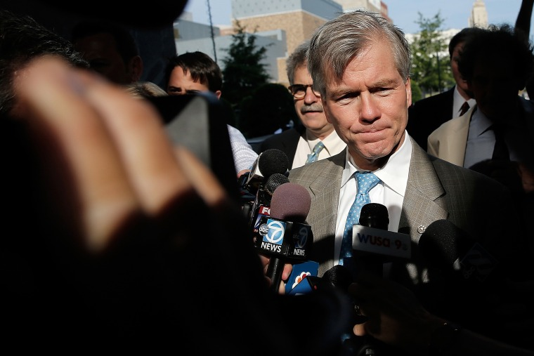 Former Virginia Governor Bob McDonnell arrives for his trial at U.S. District Court Aug. 28, 2014 in Richmond, Va.