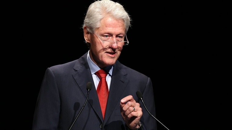 Former U.S. President Bill Clinton addresses the 20th International AIDS Conference at The Melbourne Convention and Exhibition Centre on July 23, 2014 in Melbourne, Australia.