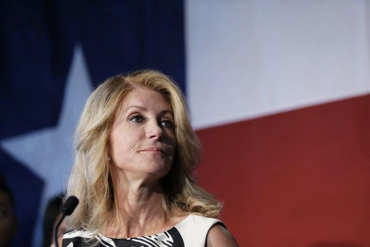 Texas democratic gubernatorial candidate Wendy Davis speaks during a stop at Palo Alto College, Aug. 26, 2014, in San Antonio, Texas.s