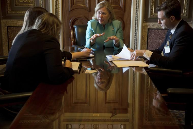 Sen. Mary Landrieu (D-La.), is seen in Washington, D.C., on Feb. 6, 2014.