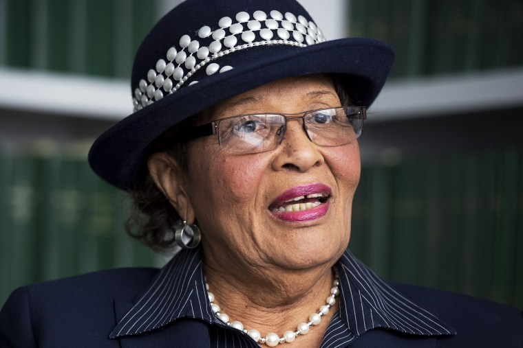 Alma Adams, democratic congressional candidate from North Carolina, speaks while being interviewed by Roll Call on March 20, 2014.