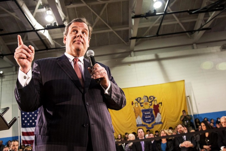 New Jersey Gov. Chris Christie holds his 118th Town Hall meeting with the citizens of the state of New Jersey, April 4, 2014, in Fairfield, N.J.