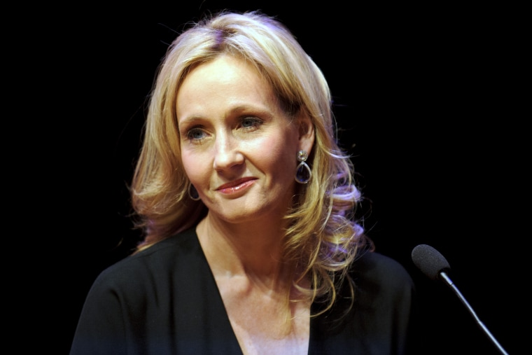 Author J.K. Rowling attends a reading from 'The Casual Vacancy' at the Queen Elizabeth Hall on September 27, 2012 in London, England.
