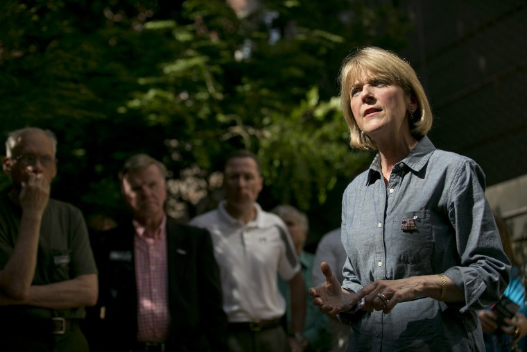 Martha Coakley, the leading Democratic candidate for governor of Massachusetts, speaks at a meet and greet in Salem, Mass., June 9, 2014.