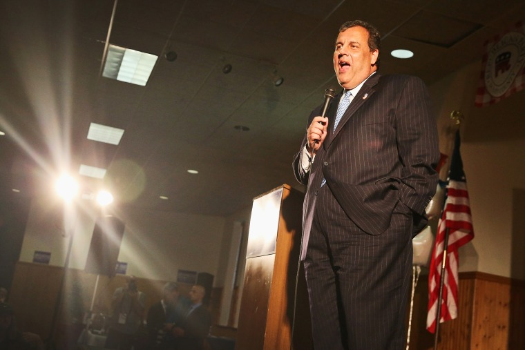 New Jersey Governor Chris Christie speaks during an event at The Mississippi Valley Fairgrounds on July 17, 2014 in Davenport, Iowa.