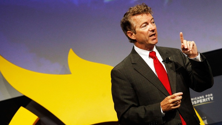 U.S. Senator Rand Paul speaks at the Defending the American Dream Summit sponsored by Americans For Prospertity at the Omni Hotel on August 29, 2014 in Dallas, Texas.