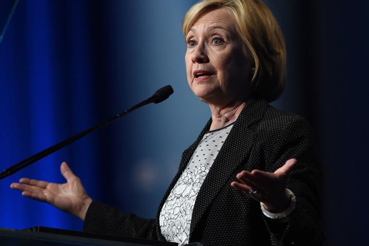 Former Secretary of State Hillary Clinton speaks in Las Vegas on Sept. 4, 2014.