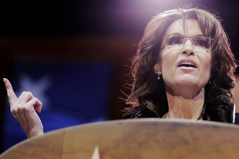 Sarah Palin speaks at CPAC, March 8, 2014 in National Harbor, Maryland. Photo by T.J. Kirkpatrick/Getty.