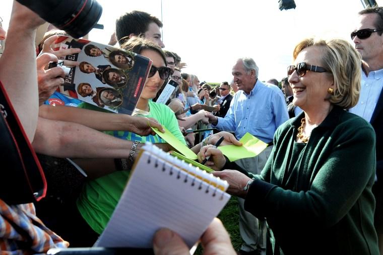 Hillary Clinton Attends Annual Tom Harkin Steak Fry In Iowa