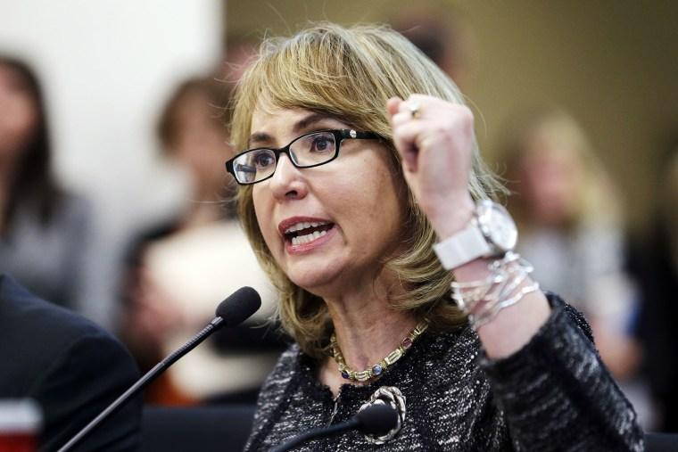Gabrielle Giffords testifies before a Washington state House panel Tuesday, Jan. 28, 2014.