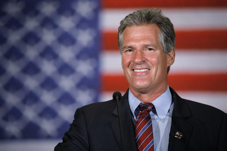 Republican candidate for the U.S. Senate Scott Brown speaks to supporters after winning the Republican primary election in Concord, N.H. on Sept. 9, 2014.