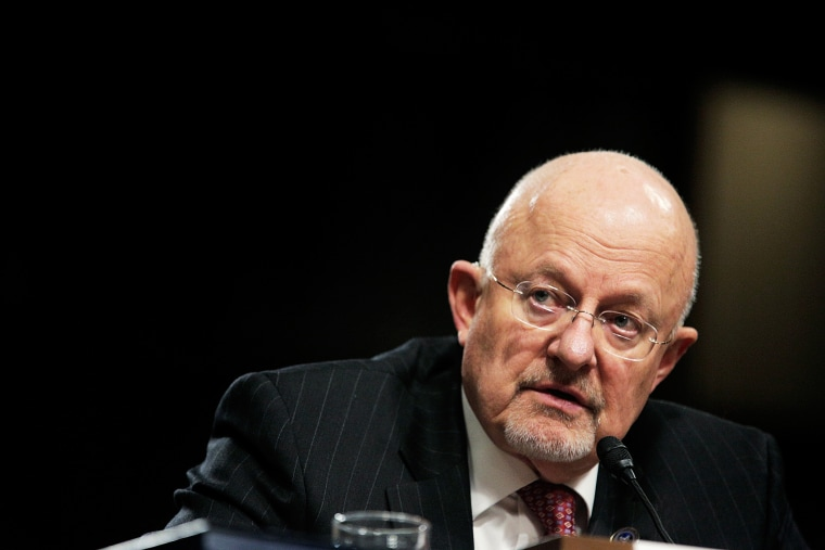 Director of National Intelligence James Clapper Jr. testifies during a hearing on Feb. 11, 2014 in Washington, D.C. (Photo by T.J. Kirkpatrick/Getty)
