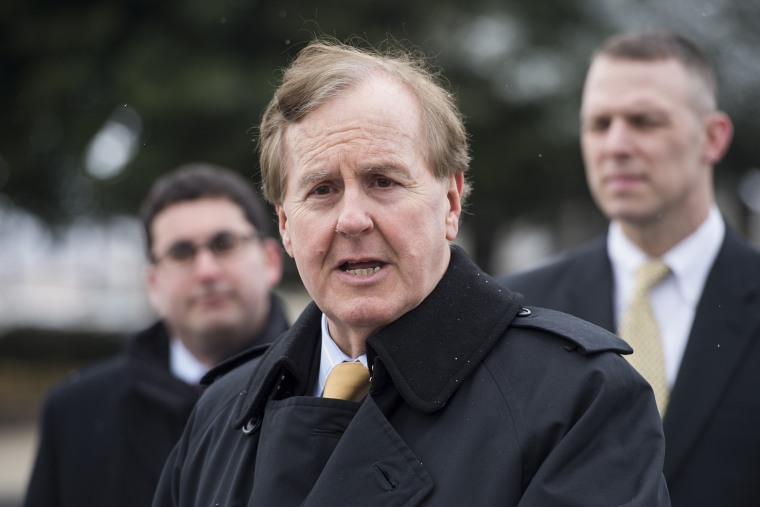 Rep. Robert Pittenger, R-N.C., speaks during a news conference on Feb. 26, 2014.