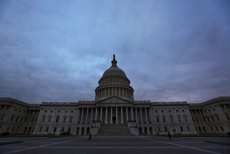 The U.S. Capitol is pictured on Oct. 16, 2013, in Washington, D.C. (Photo by Jim Lo Scalzo/EPA)