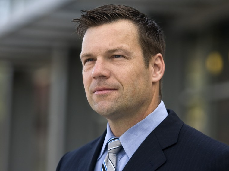 In this May 3, 2010 photo, attorney Kris Kobach poses for a photo in Kansas City, Mo.