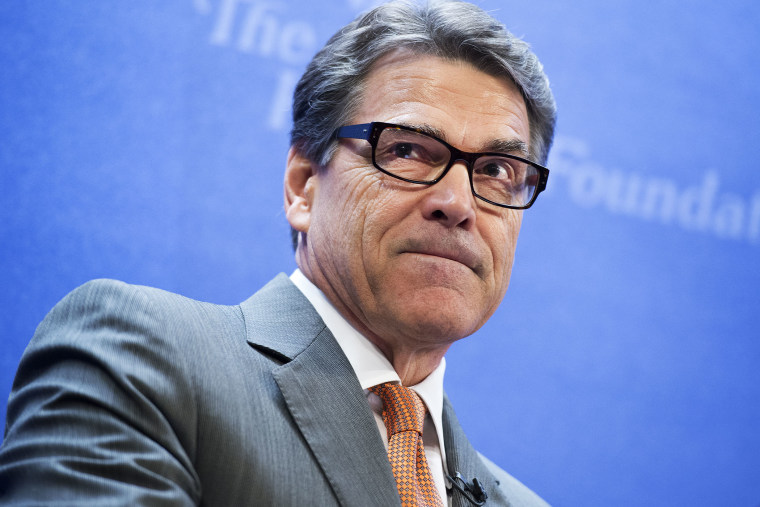 Rick Perry delivers the keynote address at a Heritage Foundation event, August 21, 2014.