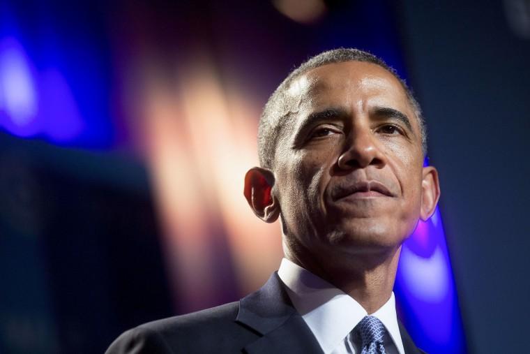 United States President Barack Obama speaks at the annual Women's Leadership Forum in Washington, D.C., U.S., on Friday, September 19, 2014.
