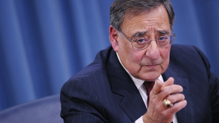Outgoing US Defense Secretary Leon Panetta takes a question from a reporters during his final press conference in the Pentagon briefing room on Feb. 13, 2013 in Washington, DC. (Photo by Mandel Ngan/AFP/Getty)