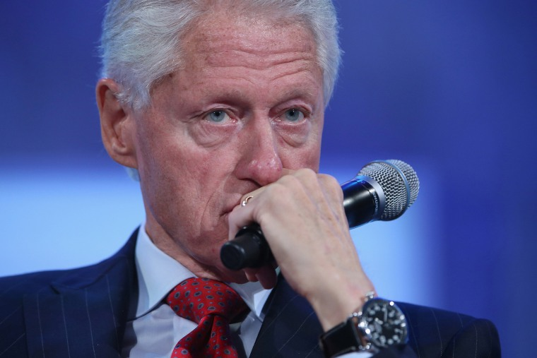 Former U.S. President Bill Clinton listens during a panel discussion at the opening plenary session of the Clinton Global Initiative (CGI), on September 22, 2014 in New York City.