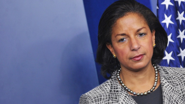 US National Security Advisor Susan Rice listens to a speaker before speaking in the Brady Briefing Room of the White House on March 21, 2014 in Washington, DC. Photo by Mandel Ngan/Getty.