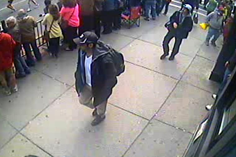 Image released by the FBI of Boston Marathon Bombing suspects Tamerlan and Dzhokhar and Tsarnaev, April 2013.