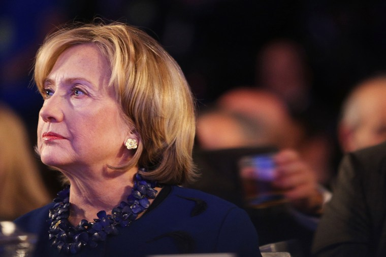 Hillary Clinton is seen in the audience during the Clinton Global Initiative on Sept. 23, 2014 in New York City.
