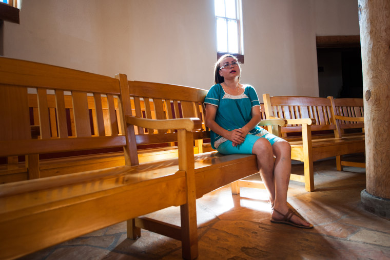 Rosa Robles Loreto, an undocumented mother of two who has lived in Tucson, Ariz. for nearly a decade, has taken sanctuary at Southside Presbyterian Church in Tucson after Immigration and Customs Enforcement ordered her removal following a 2010 traffic sto