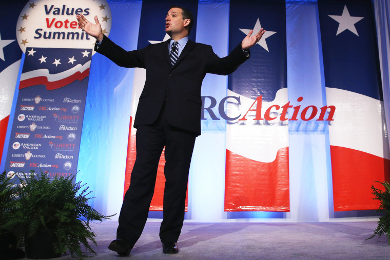 Sen. Ted Cruz (R-TX) speaks at the 2014 Values Voter Summit September 26, 2014 in Washington, DC.