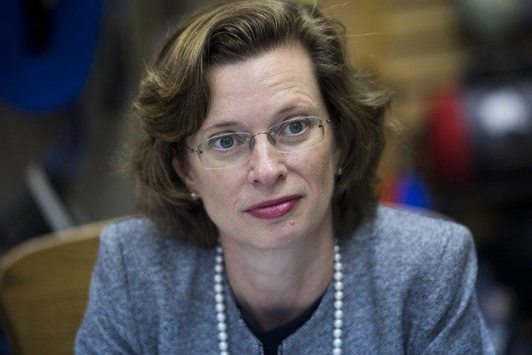 Democratic candidate for U.S. Senate Michelle Nunn in Columbus, Ga., on April 16, 2014.