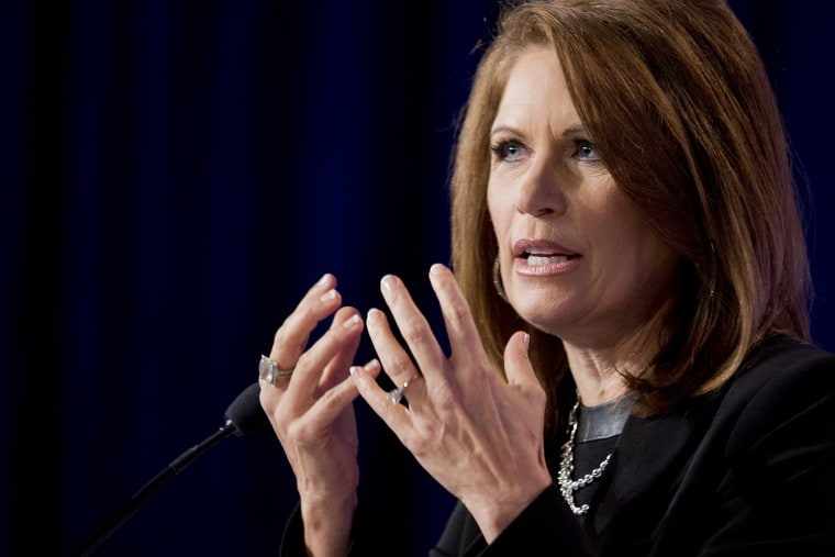 Rep. Michele Bachmann, R-Minn. speaks at the 2014 Values Voter Summit in Washington, on Sept. 26, 2014.