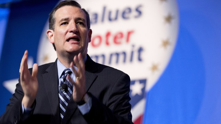 Sen. Ted Cruz, R-Texas speaks at the 2014 Values Voter Summit in Washington, Friday, Sept. 26, 2014. (Photo by Manuel Balce Ceneta/AP)
