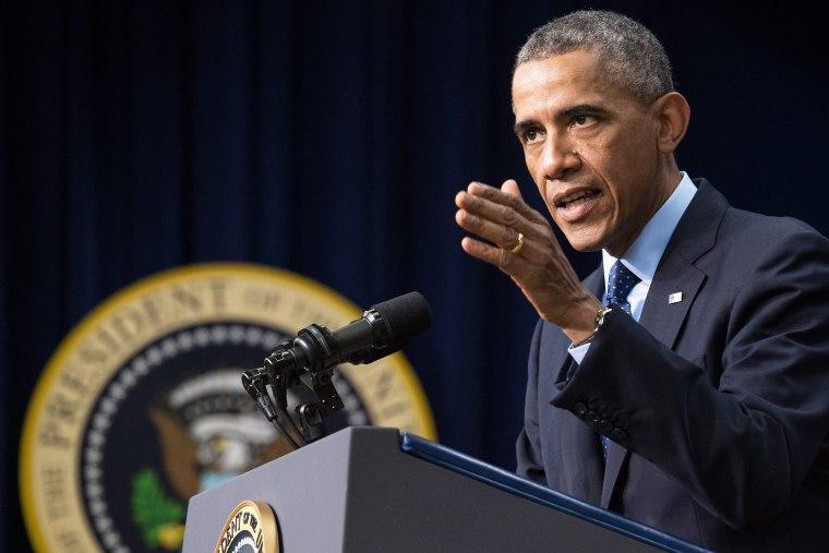 President Barack Obama speaks at the White House in Washington,D.C. on Sept. 26, 2014.