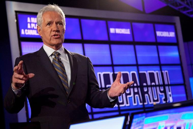 "Host of \""Jeopardy!\"" Alex Trebek on Jan. 13, 2011 in Yorktown Heights, New York."