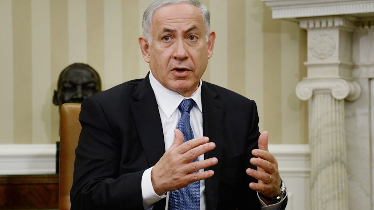 Prime Minister Benjamin Netanyahu of Israel speaks to the press in the Oval Office of the White House prior to a meeting with United States President Obama, on Oct. 1, 2014 in Washington, DC.