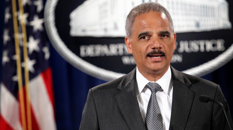 Attorney General Eric Holder speaks during a press conference Aug. 21, 2014 at the Justice Department in Washington, DC. (Photo by Alex Wong/Getty)