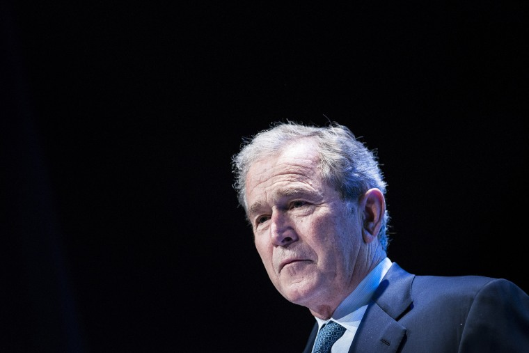 Former US President George W. Bush speaks during an event on Aug. 6, 2014 in Washington, D.C. (Photo by Brendan Smialowski/AFP/Getty)