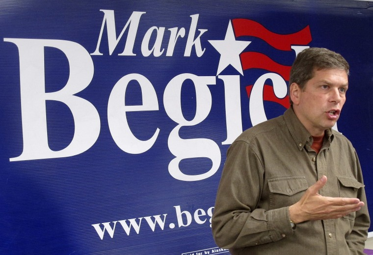 U.S. Sen. Mark Begich, D-Alaska, speaks at an event at his campaign headquarters on Wednesday, Aug. 6, 2014, in Anchorage, Alaska. A rift developed Thursday,...