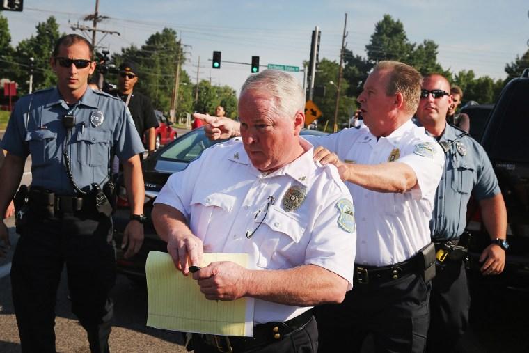 Ferguson Police Chief Thomas Jackson on August 15, 2014 in Ferguson, Missouri.