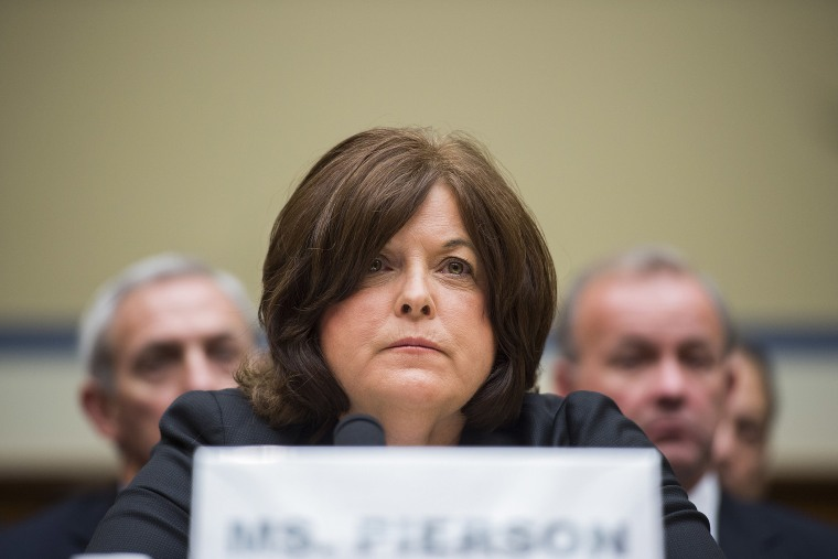 Director of the United States Secret Service Julia Pierson testifies before the House Oversight and Government Reform Committee on Capitol Hill in Washington, DC September 30, 2014.
