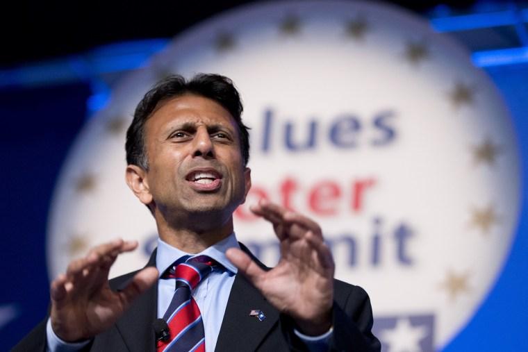 Louisiana Gov. Bobby Jindal, R-La., speaks at the 2014 Values Voter Summit in Washington, Friday, Sept. 26, 2014.