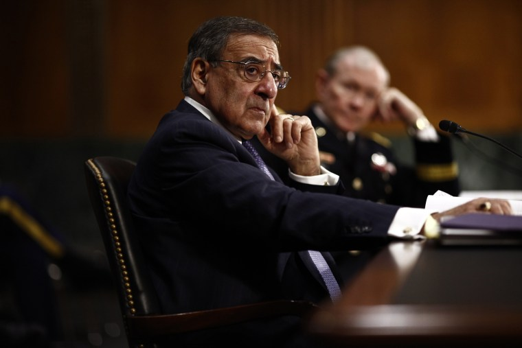 Leon Panetta testifies before the Senate Armed Services Committee in Capitol Hill in Washington, March 7, 2012.